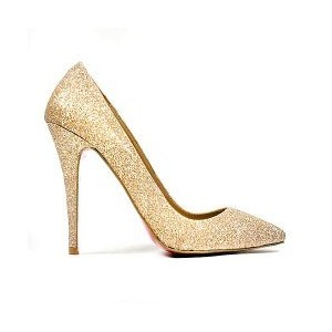 christian louboutin gold shoes sex and the city