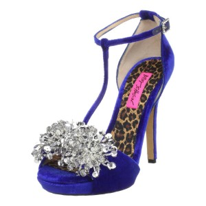 a848c32baa79 Betsey Johnson Impress blue heels for brides