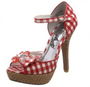 a949aea4adc Fun Shoes for Friday: Naughty Monkey Dreamy gingham heels | Fairy ...