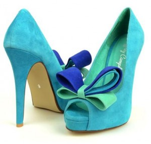 Hot shoes in cool shades of light & aqua blue | Fairy Shoe Princess