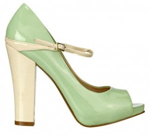 989ea2b298fd Spring Shoes in Pastels  Nine West Topshoe Mary Jane peep toe pumps