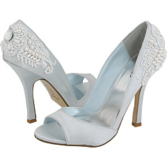 The Whisper Soft Shade Of Blue And Beautiful Detailing On Back This Shoe Make It As Tempting Delicious Wedding Cake
